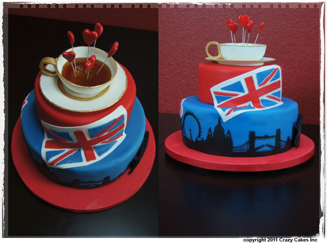 Gateau theme londres