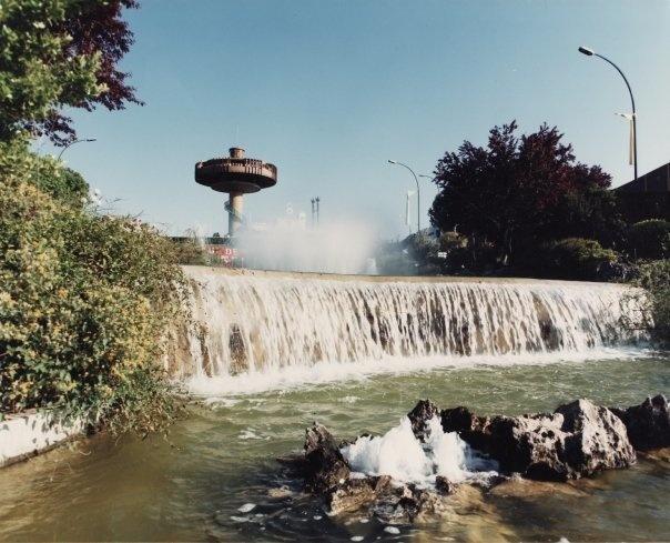 Panorámica del Platillo volante del Parque de Atracciones de Madrid