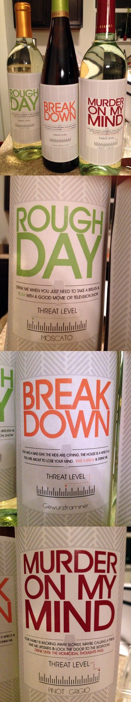 Homemade labels - pretty funny!