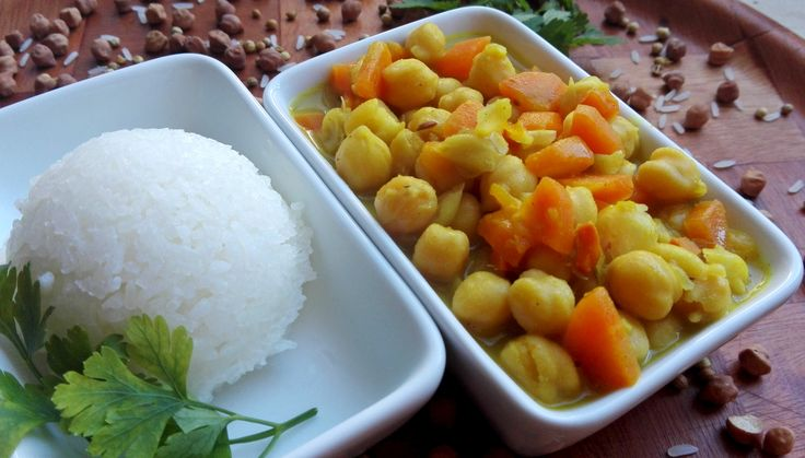 Cicerove curry #curry #chickpeas #rice #healthy #food