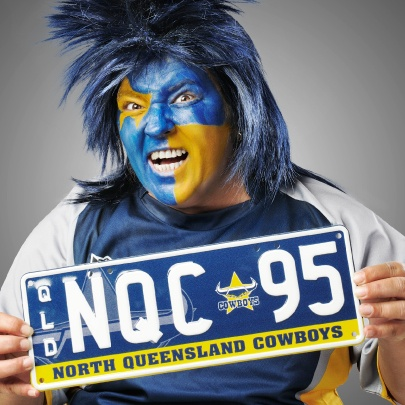 North Queensland Cowboys Personalised Plate - Screams Passion. #NRL