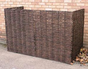 Woven Willow Wheelie Bin Screening £39.95