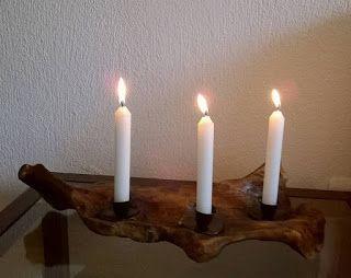 Ονειρώξεις επί.... ξύλου: Βαση κεριών ρεσώ από θαλασσόξυλα