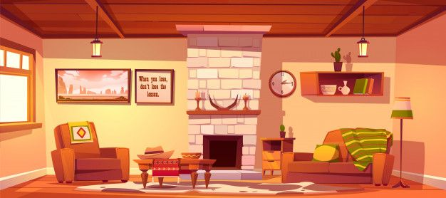 Download Wild West Living Room Empty Western Style Interior For Free Interior Paint Colors For Living Room Living Room Empty Western Style Interior Anime living room background morning