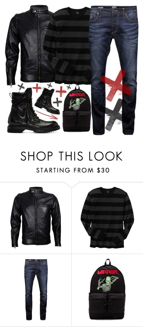 """✔️✔️✔️"" by sanela-enter ❤ liked on Polyvore featuring VIPARO, Gap, Jack & Jones, Off-White, Rick Owens, men's fashion and menswear"