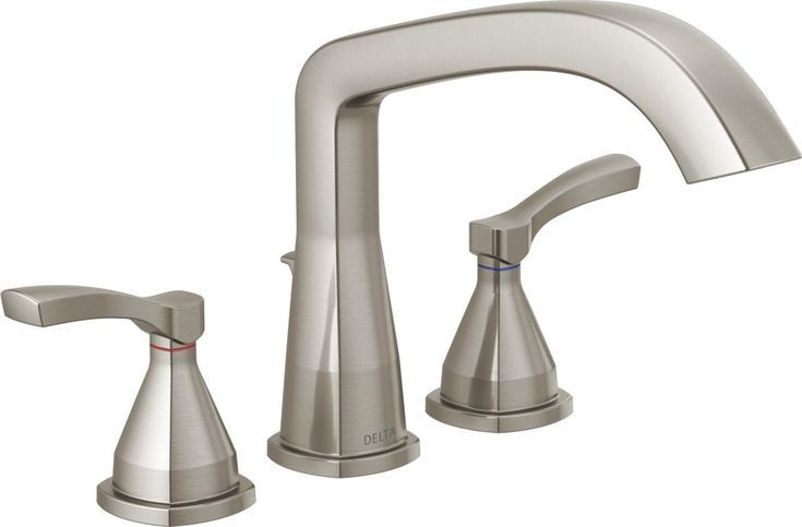 With Subtly Upturned Spout And Handles The Stryke Bath Collection