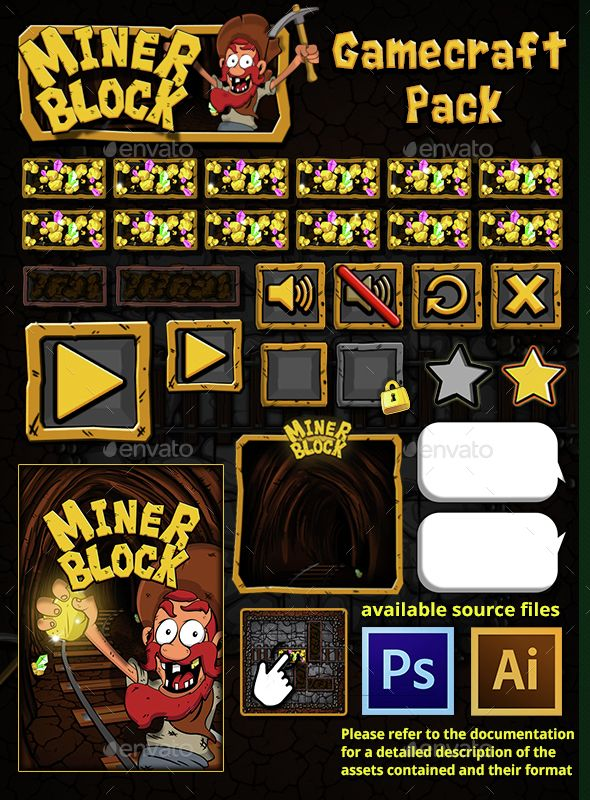 Miner Block - Game Assets (Game Assets)