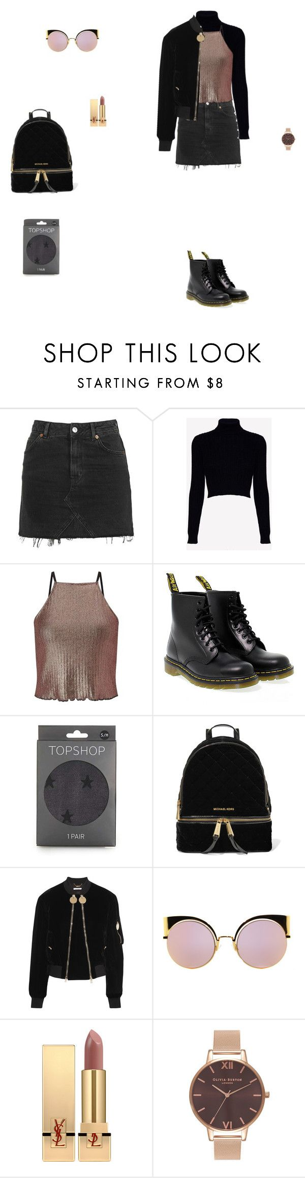 """""""8 * 11 * 2016"""" by isabellarochin ❤ liked on Polyvore featuring Topshop, Jack Wills, Miss Selfridge, Dr. Martens, MICHAEL Michael Kors, Givenchy, Fendi, Yves Saint Laurent and Olivia Burton"""