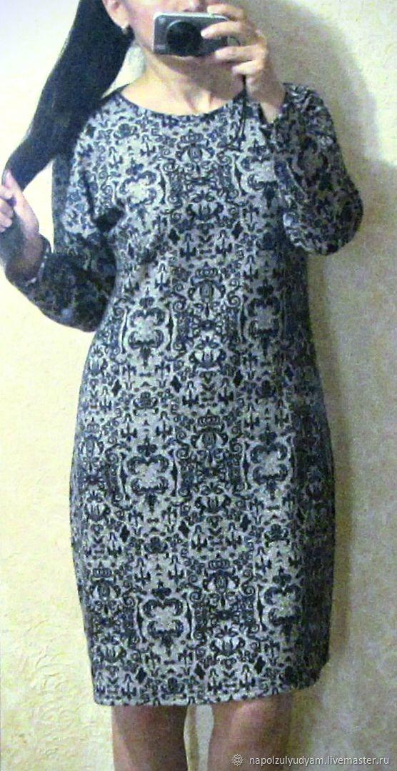 e709f360c73 Платья ручной работы. Ярмарка Мастеров - ручная работа. Купить ВЕНЗЕЛЬ  Теплое трикотажное платье.