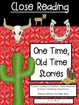 Close Reading Stories from the Old West - Let your 4th, 5th, and 6th grade classroom or homeschool students enjoy these five Close Reading passages from the Old West. Students will work on necessary reading skills and strategies by reading the passages three time each. Great for literacy centers, test prep, and more! Click to grab it now! {fourth, fifth, sixth grader} $ {Try one FREE in the preview file!!}