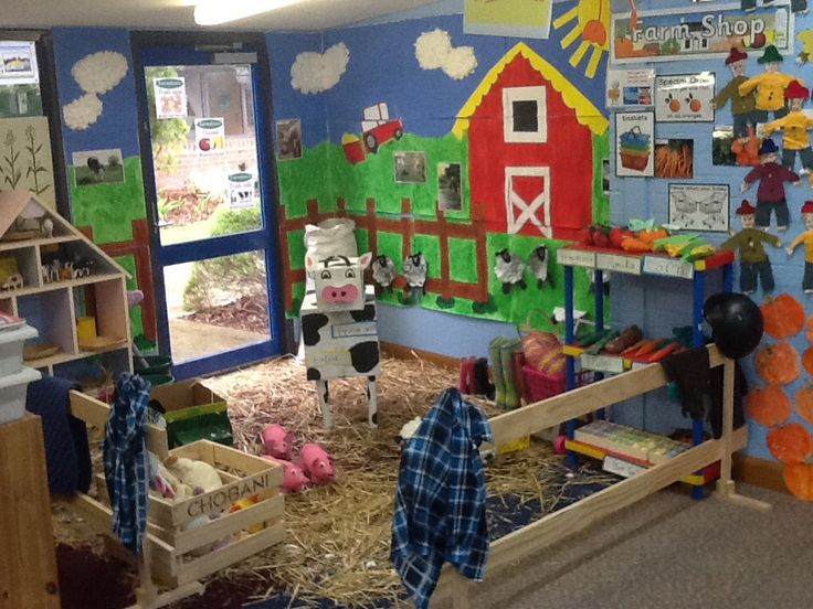 Farm role play area with farm shop