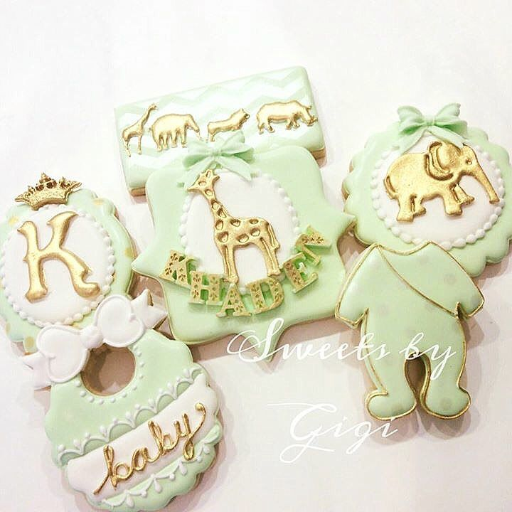 Glam Safari Baby Shower | cookies @mjkreations