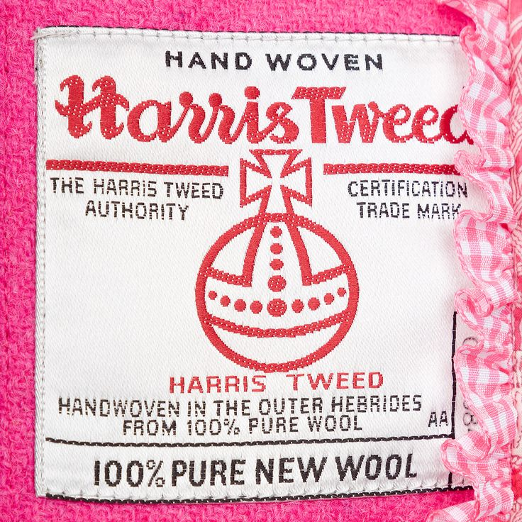 Proudly displaying the Harris Tweed Orb trademark certification.