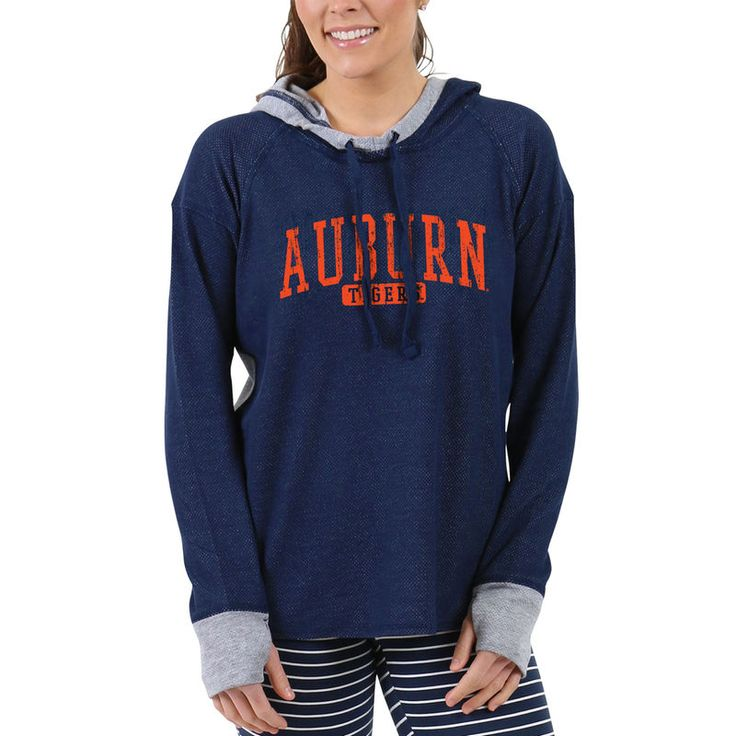 Auburn Tigers Women's Pinhole Cool Down Pullover Hoodie - Navy