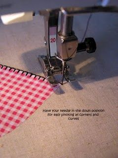 applique tutorial..using sewing machine blanket stitch...