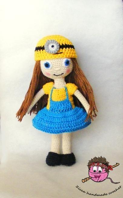 (4) Name: 'Crocheting : Crochet minion doll pattern