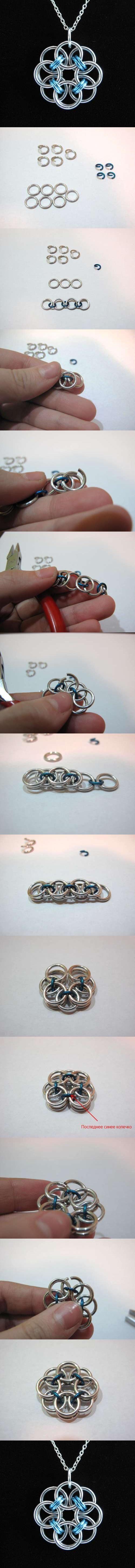 DIY Rose Wire Pendant