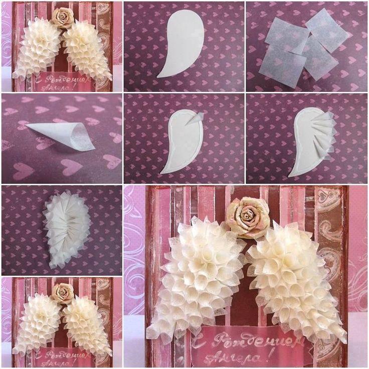 DIY angel wings rose