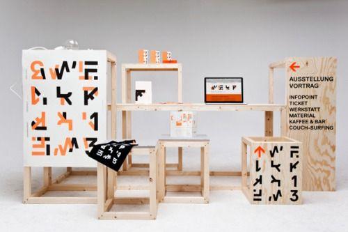 Branding for student exhibition Werkkonferenz...   Art & Design of the World   Nae-Design Blog