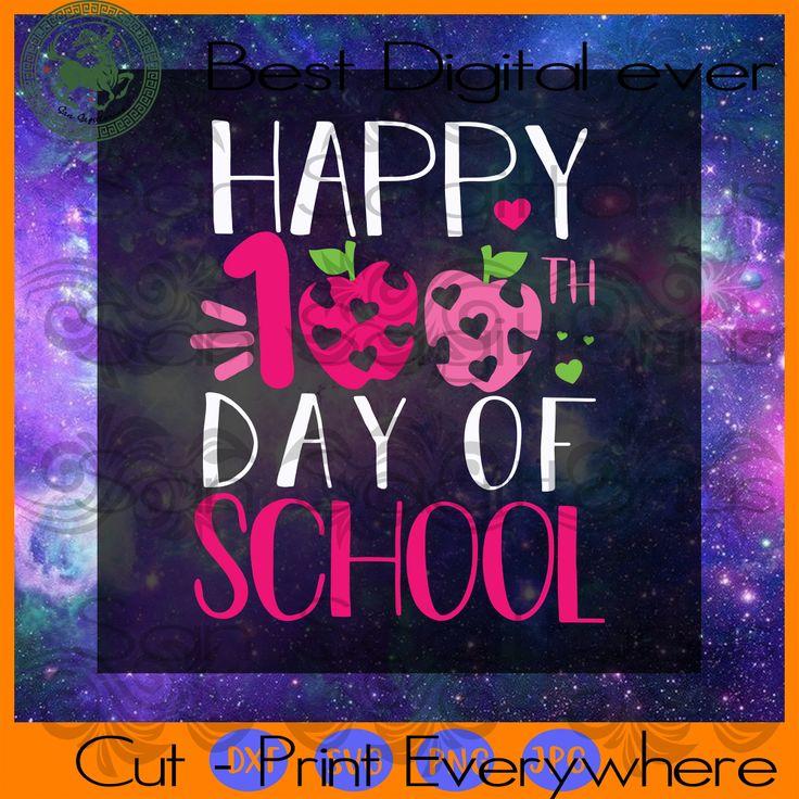 Happy 100th Day of School Kindergarten Teacher Student ...