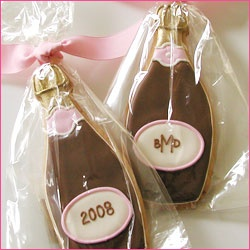champagne bottle cookie, maybe for Kim's bridal shower