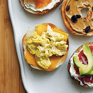 Scrambled Egg and Cheese Bagel | MyRecipes.com #protein #grain #myplate