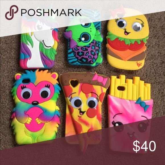 Justice iPod touch 4 cases Lightly used cute iPod 4 cases. Rubber material. Accessories Tablet Cases