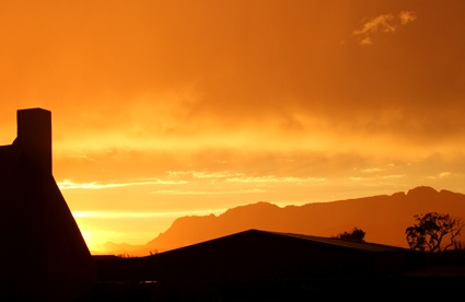 Sunset over the Willow Creek Olive Oil factory!