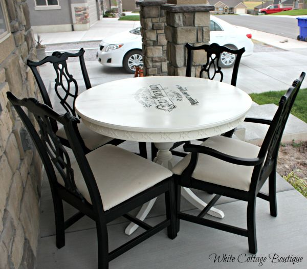 Black And White Dining Set