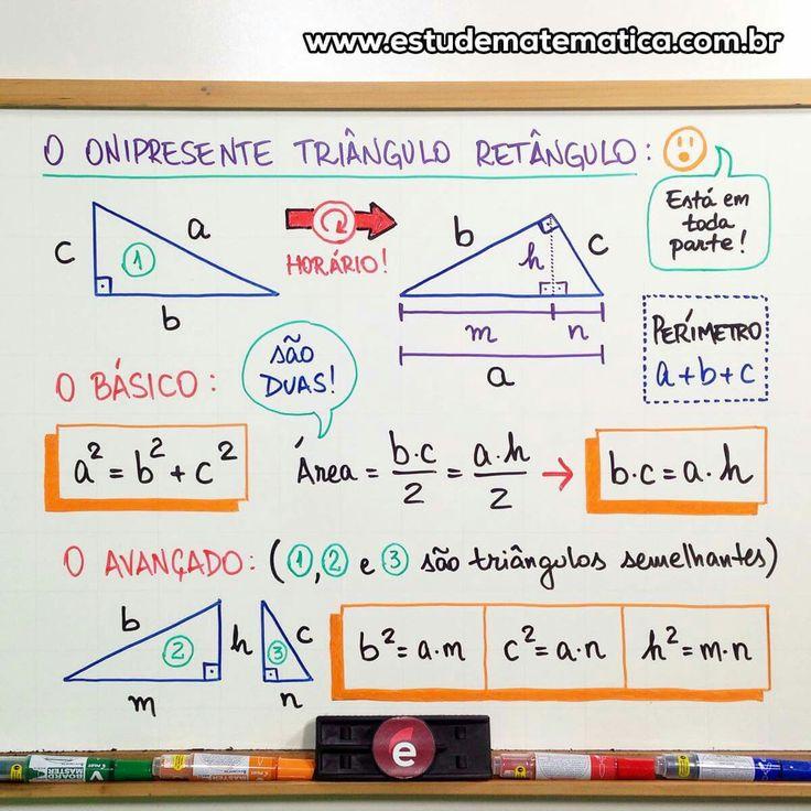 Mapa mental de triângulo retângulo