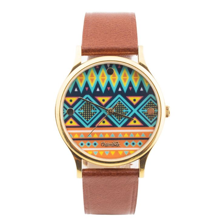 Buy Aztec Print Wrist Watch Online - Chumbak