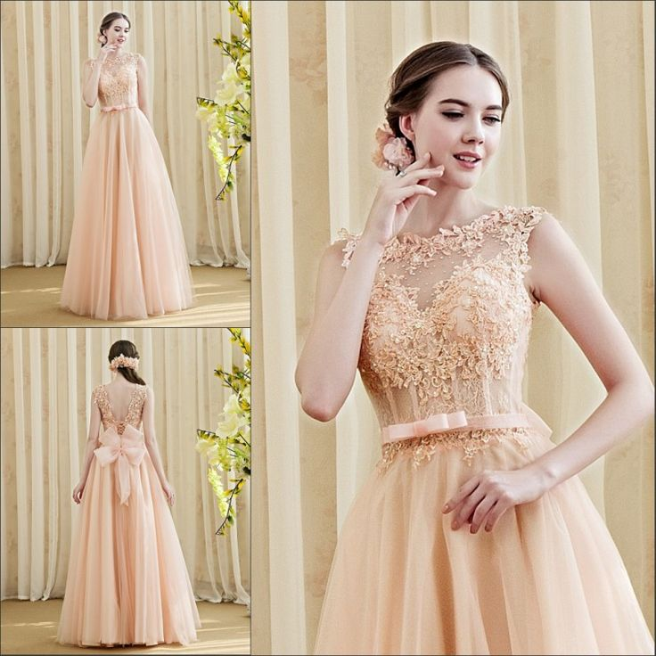 Custom Made 2016 New Arrival A-Line Elegant Evening Dress Appliques Beading Big Bow Plus Size Formal Dresses Prom Gown AC640