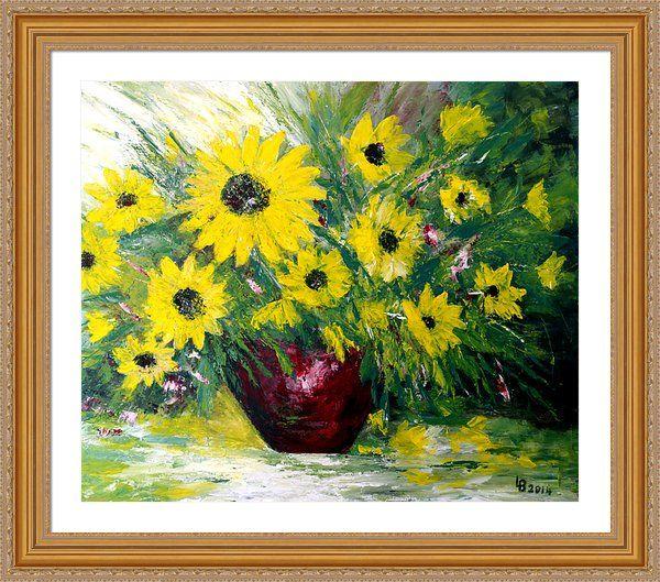 Sunflower Framed Print By Lubjana Baci Davidi