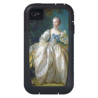 FRANCOIS BOUCHER - MADAME BERGERET portrait art iphone 4 case tough xtreme  #francois #Boucher #madame #bergeret #painting #rokoko #gift #accessory #decoration #lady #art #Paris #France