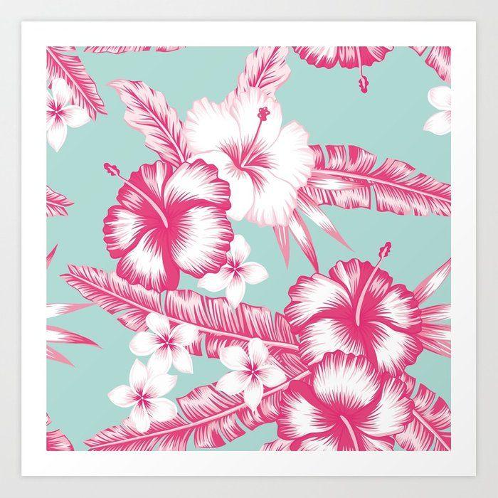 Buy Hawaiian Hibiscus Flowers Art Print by newburydesigns