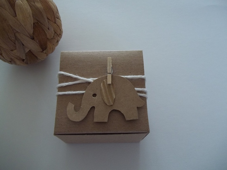 25 Baby Shower Favor Box Baby Elephant Tag Personalized