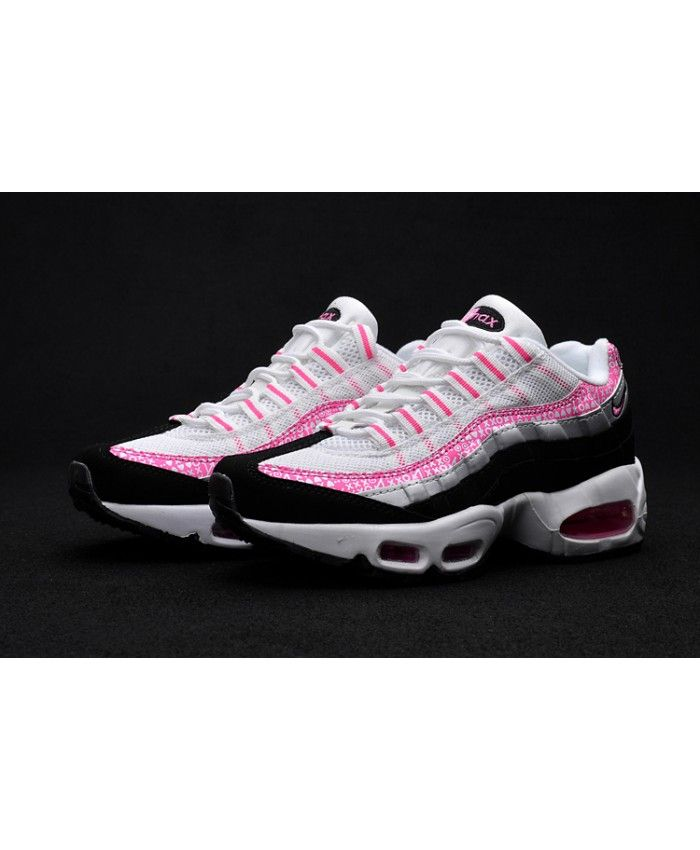 4bee4fa6ec448 Nike Air Max 95 Ultra Pink White Black Grey Trainers
