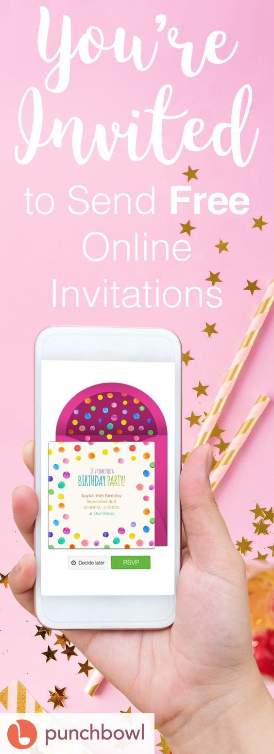 Paper invites are too formal, and emails are too casual. Get it just right with online invitations from Punchbowl. We've got everything you need for that birthday party.    http://www.punchbowl.com/online-invitations/category/47?utm_source=Pinterest&utm_medium=71.12P