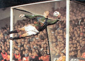 peter schmeichel. This pic says it all about how great, the great Dane was