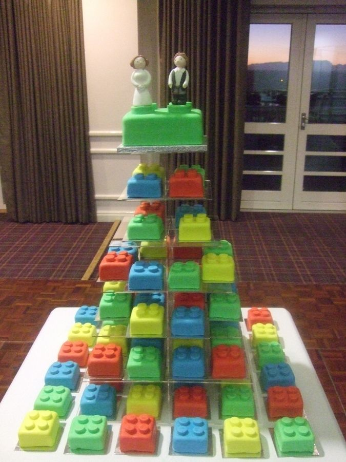 Lego petit fours - would be super cute for a boy's baby shower