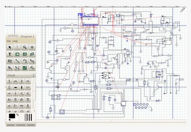 Learn how to reverse engineer a schematic from a circuit board http://www.instructables.com/id/How-to-reverse-engineer-a-schematic-from-a-circuit