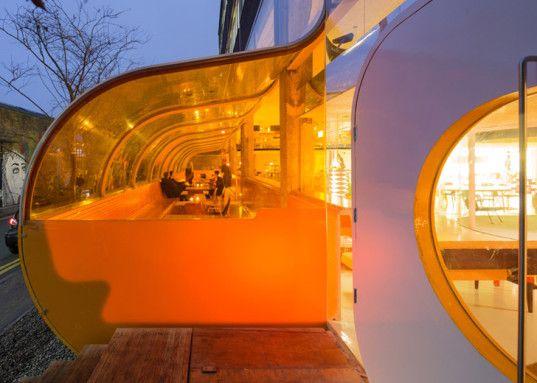 Striking London workspace wraps offices in bubble-like acrylic walls