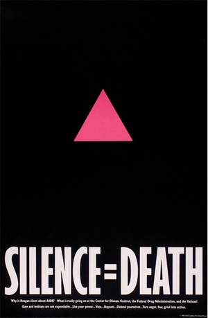 """U.S.A., 1986 -- From an exhibition at the Museum of Design Atlanta called """"Graphic Intervention: 25 Years of International AIDs Posters"""""""