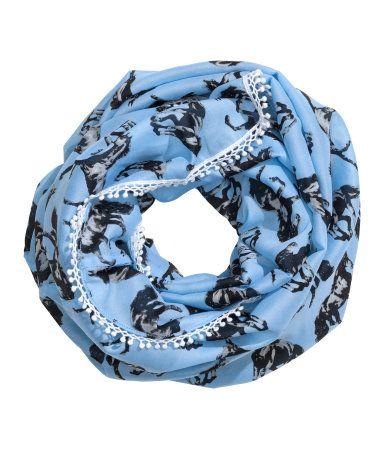 Mooie paardenprint sjaal met witte kantjes randjes