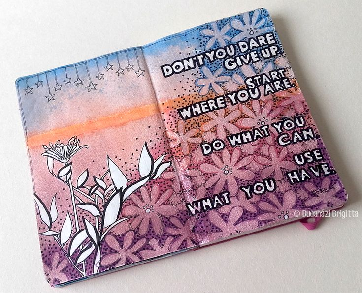Step-by-Step Art Journal Pages by Brigitta Budahazi with StencilGirl Stencils