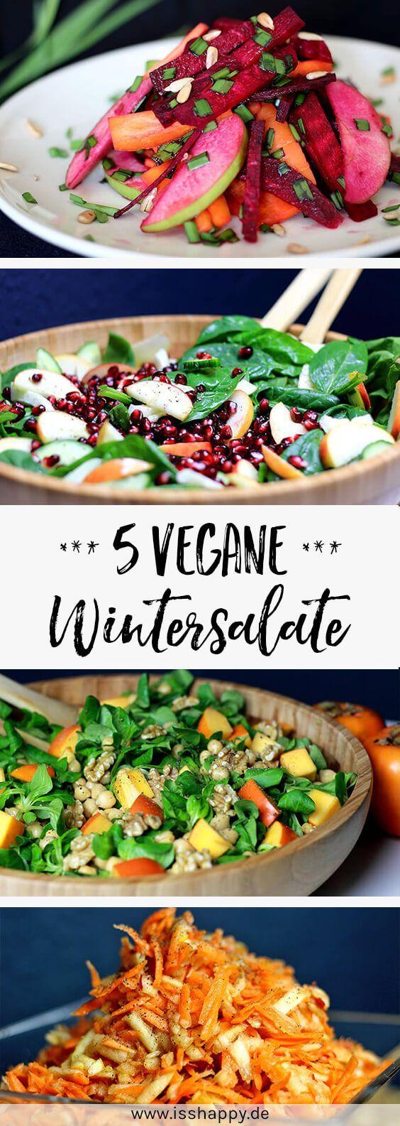 5 gesunde und leckere vegane Salate für den Winter