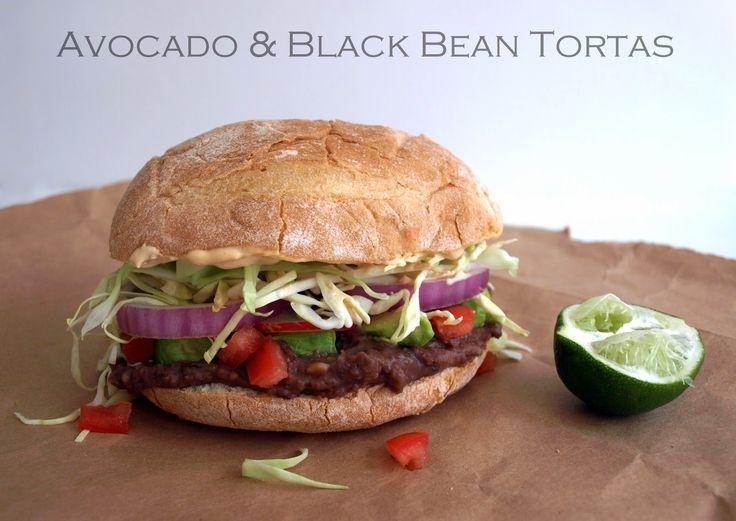 Avocado and Black Bean Tortas