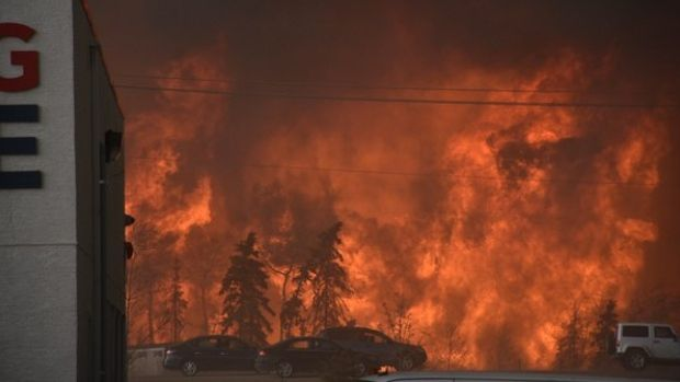 This photo was taken from the Fort McMurray International Airport on Tuesday.