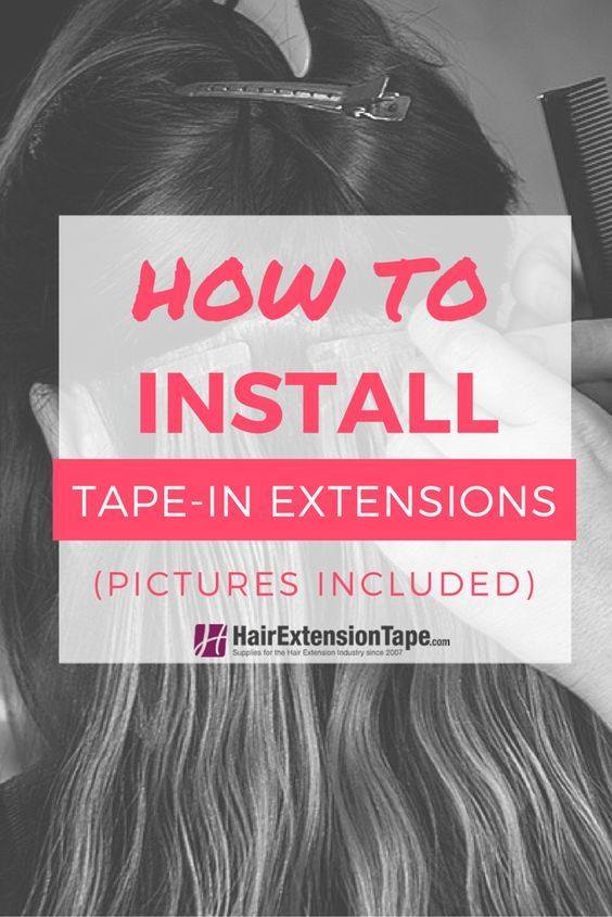 It is easier than you think! In 5 easy steps learn how to install tape in hair extensions professionally or at home.