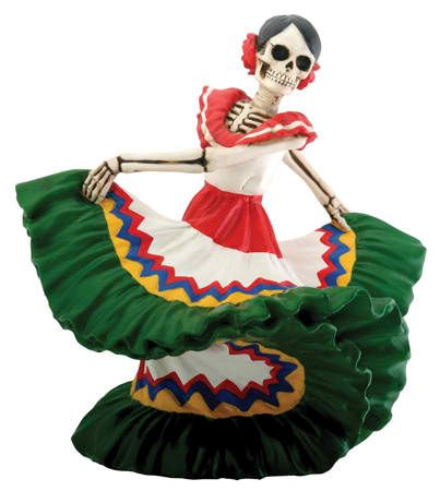 Day of the Dead Dancer-Green